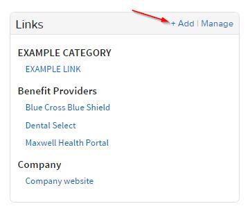 links-widget